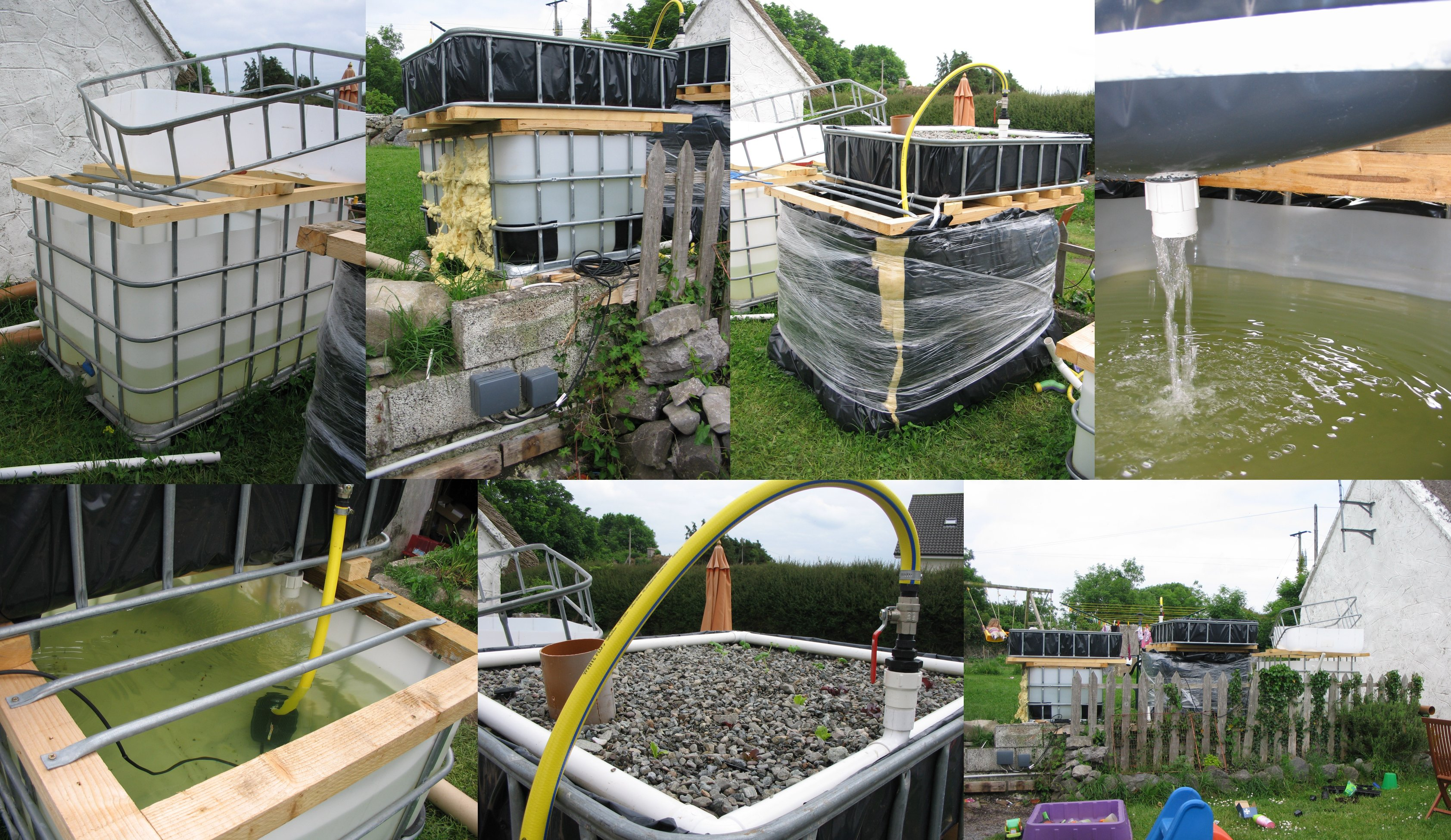 Backyard Aquaponics Kit :  our new side project ? our Headford backyard aquaponics system