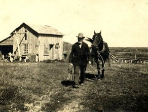 A North Dakota homesteader