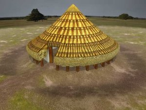 3D reconstruction of a Bronze Age round house from the Warwick Blog