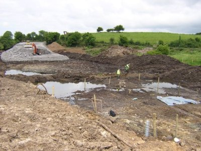 The site of Drummaskibole under excavation by the Moore Group prior to road developments