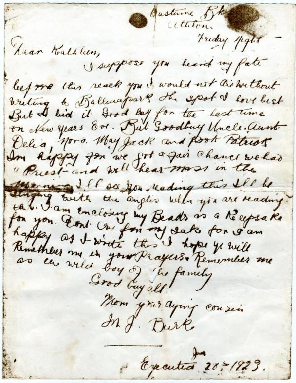 Martin Burke letter